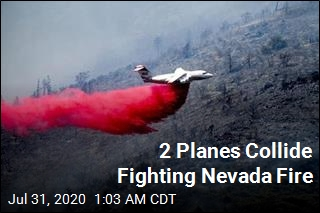 2 Planes Collide Fighting Nevada Fire