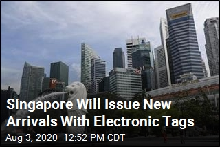 Singapore Will Issue New Arrivals With Electronic Tags