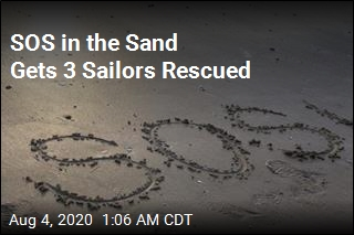 3 Sailors Rescued Thanks to SOS in the Sand