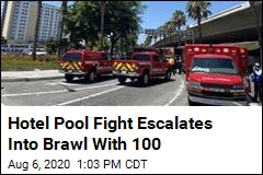 Brawl at Hotel Pool Involves 100 People