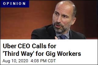 Uber CEO Calls for 'Third Way' for Gig Workers