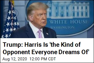 Trump: Harris Is 'the Kind of Opponent Everyone Dreams Of'
