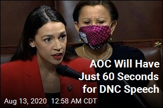 AOC Will Have Just 60 Seconds for DNC Speech