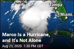Marco Is Now a Hurricane