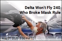 Airline Has 240 Names on List of Mask Violators
