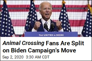 Biden Campaign Now Offering Yard Signs ... in Animal Crossing