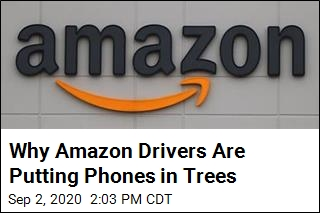 Why Amazon Drivers Are Putting Phones in Trees