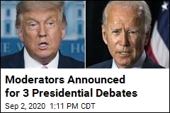 Moderators Announced for 3 Presidential Debates