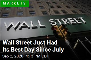 Wall Street Just Had Its Best Day Since July