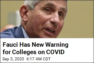 Fauci to Colleges: Don't Send Students Home