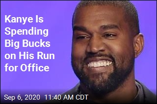 Kanye Is Spending Big Bucks on His Run for Office