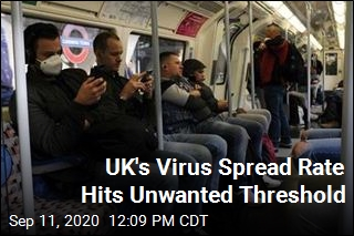 UK's Virus Spread Rate Hits Unwanted Threshold