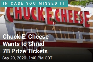 Chuck E. Cheese Seeks to Shred 7B Prize Tickets