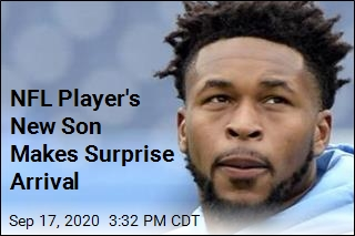 NFL Player's New Son Makes Surprise Arrival