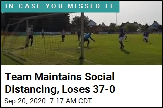 Socially Distanced Soccer Team Loses 37-0