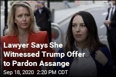 Lawyer Says She Witnessed Trump Offer to Pardon Assange