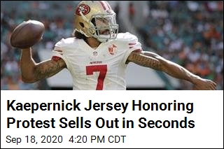 Kaepernick Jersey Honoring Protest Sells Out in Seconds