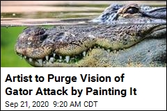 Artist to Purge Vision of Gator Attack by Painting It