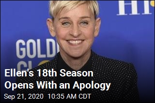 Ellen Is Back, and She Opens With an Apology