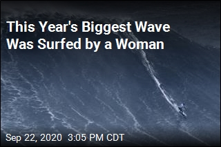 A Woman Surfed the Biggest Wave This Year