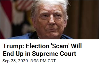 Trump Predicts Election Will End Up in Supreme Court