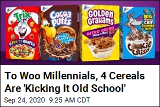 To Woo Millennials, 4 Cereals Are 'Kicking It Old School'