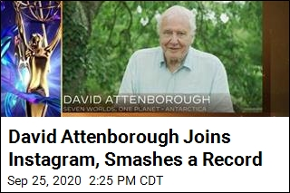 David Attenborough Joins Instagram, Smashes a Record