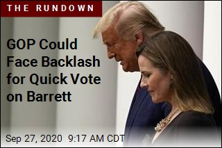 GOP Could Face Backlash for Quick Vote on Barrett