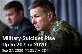 Military Suicides Rise Up to 20% in 2020