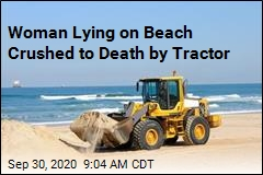 Tractor Runs Over Woman Lying on Beach
