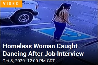 Homeless Woman Scores Job, Does 'Happy Dance'