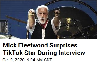 Mick Fleetwood Surprises TikTok Star During Interview