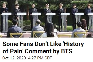 Some Fans Don't Like 'History of Pain' Comment by BTS