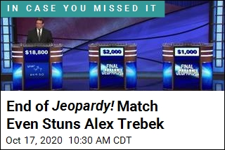 4-Day Jeopardy! Champ Wins in Stunning Fashion