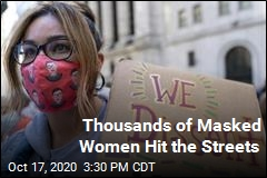 Thousands of Masked Women Hit the Streets