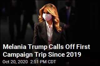 With a 'Lingering Cough,' Melania Trump Cancels Campaign Trip