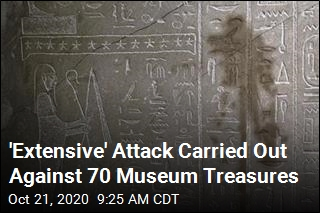 70 Museum Treasures Hit in Spraying Attack