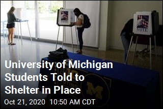 University of Michigan Students Told to Shelter in Place