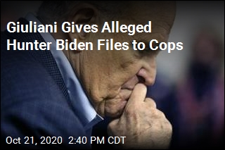 Giuliani Gives Alleged Hunter Biden Files to Cops