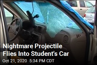 Nightmare Projectile Flies Into Student's Car