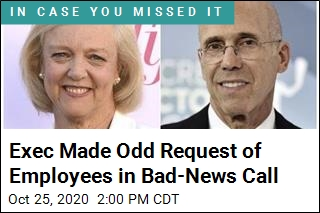 Exec Made Odd Request of Employees in Bad-News Call