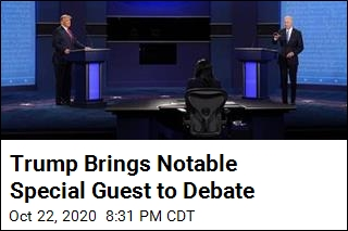 Trump Brings Notable Special Guest to Debate