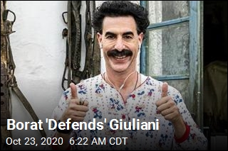 Borat 'Defends' Giuliani