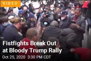 Brawls Erupt During NYC Trump Rally