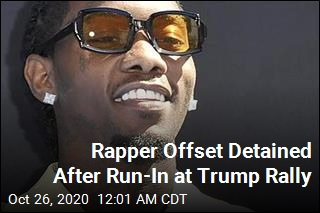 Rapper Offset Detained After Run-In at Trump Rally