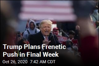 Trump Plans Frenetic Push in Final Week