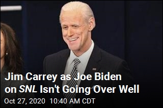 Jim Carrey as Joe Biden on SNL Isn't Going Over Well
