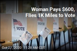Woman Pays $600, Flies 1K Miles to Vote