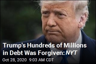 Trump's Hundreds of Millions in Debt Was Forgiven: NYT