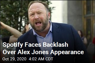 Spotify Faces Backlash Over Alex Jones Appearance